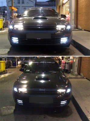 Front lights. Parking and Fog lights changed