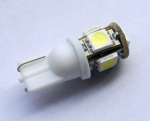 SMD 5 LED T10 parking bulbs