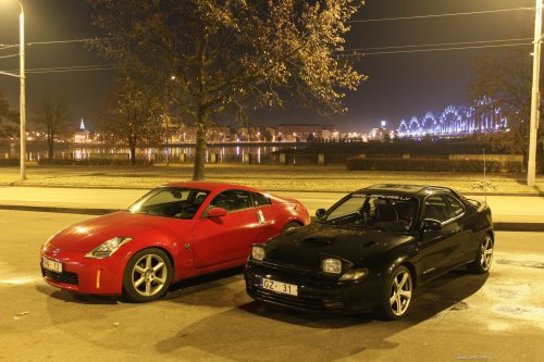 celica st185 gt4 and nissan 350z in riga, latvia