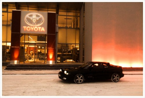 Toyota center Latvia, Celica st185 snow