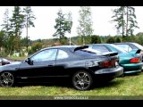 celica st185 black with subaru wrx 17 wheels